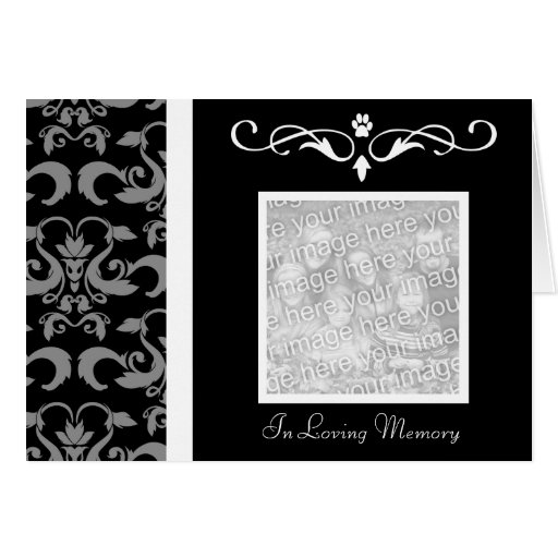 in memory cards templates - death announcement cards death announcement card