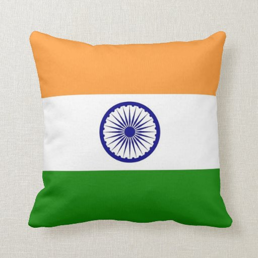 Indian Flag On American Mojo Pillow Zazzle