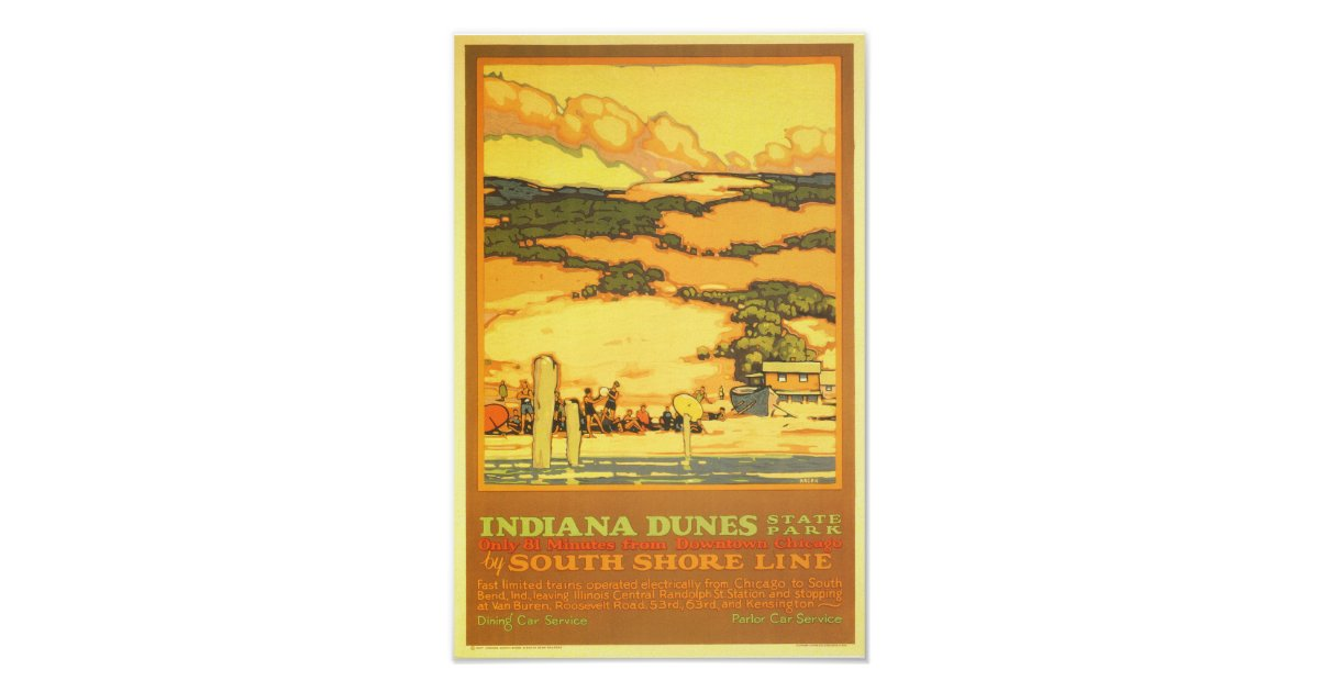 Indiana Dunes State Park Poster Zazzle