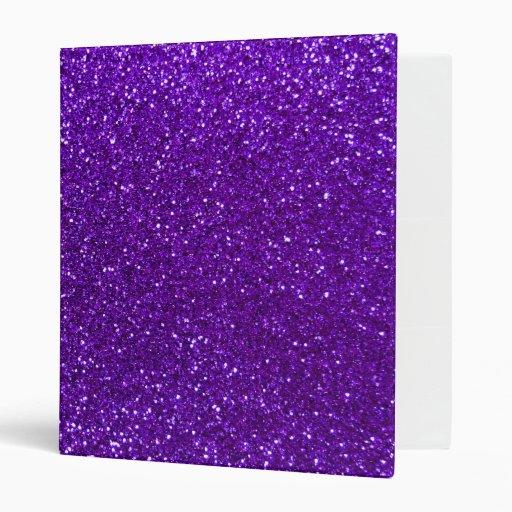Indigo Purple Glitter 3 Ring Binder
