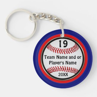 Inexpensive Baseball Team Gifts PERSONALIZED Double-Sided Round Acrylic Keychain