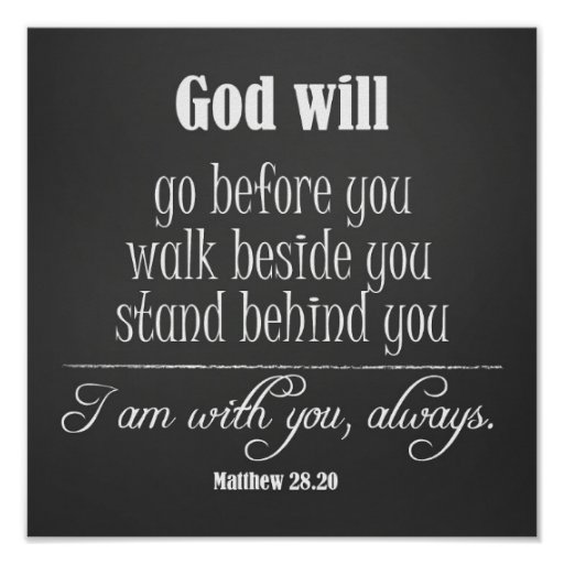 Inspirational God Quote; Go, Walk And Stand Poster