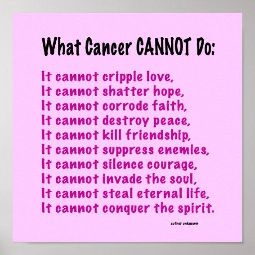 Inspirational Quotes For Cancer Awareness: Inspirational Poster For Cancer Awareness