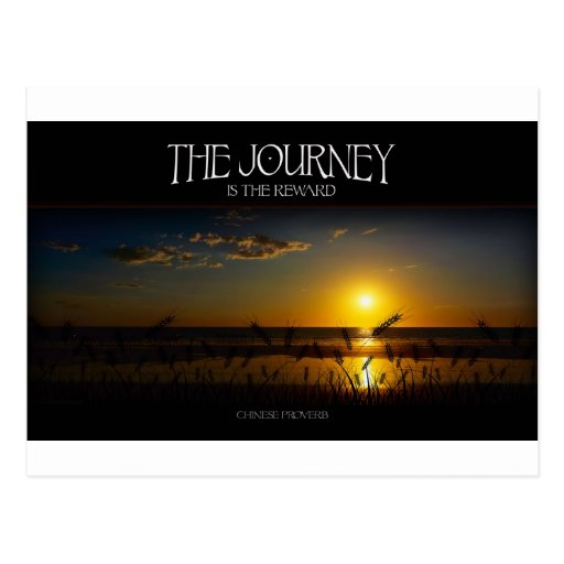 Inspirational Quote -- The Journey of Life Postcard | Zazzle