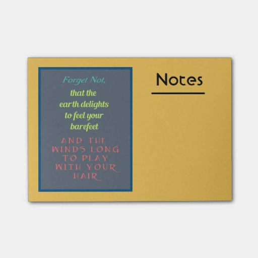 Quotes On Sticky Notes: Inspirational Quote Typography Post-it® Notes