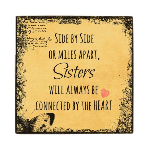 Inspirational Quotes On Wood: Inspirational Sister Quote Maple Wood Coaster