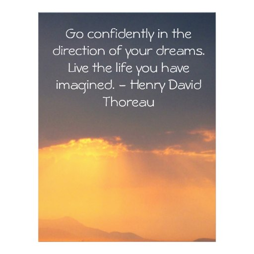 Motivational Quotes For Selling Your House Quotesgram: Inspirational Thoreau Quote Flyer
