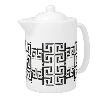 Black And White Teapots