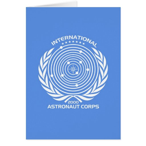 Int'l Astronaut Corps Greeting Cards from Zazzle.com
