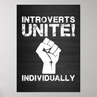 Introverts Unite Posters | Zazzle