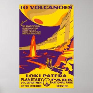 Io Volcanoes Large Poster