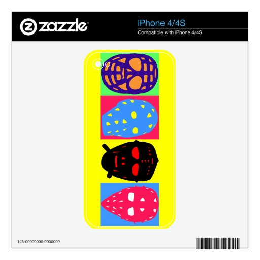 Iphone 4 skin template customized zazzle for Iphone 5 sticker template
