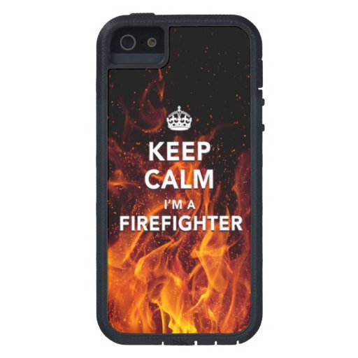 Iphone 5 5s Quot Keep Calm I M A Firefighter Quot Case Zazzle