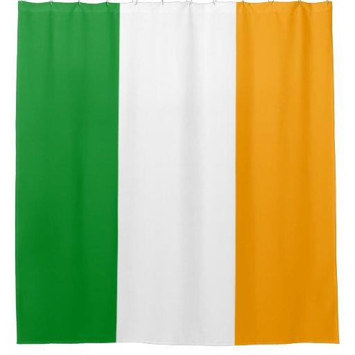 Ireland Patriotic Tricolor Flag Orange White Green Shower