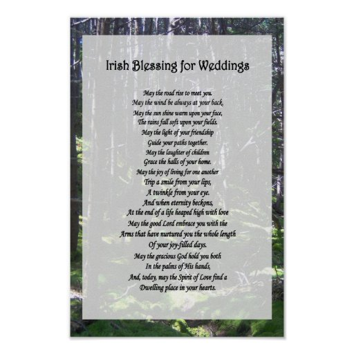 Irish Wedding Gifts From Ireland: Irish Blessing For Weddings Poster