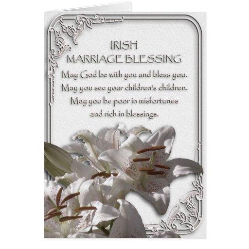 Wedding Blessings Photography: Irish Marriage Blessing Card