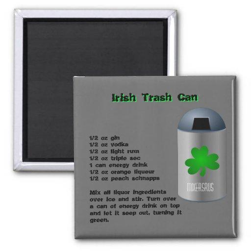 Irish Trash Can Drink Recipe 2 Inch Square Magnet