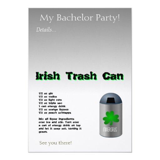 Irish Trash Can Drink Recipe Card