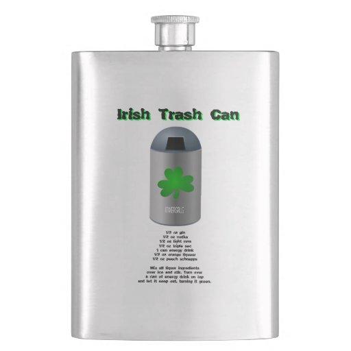Irish Trash Can Drink Recipe Flask