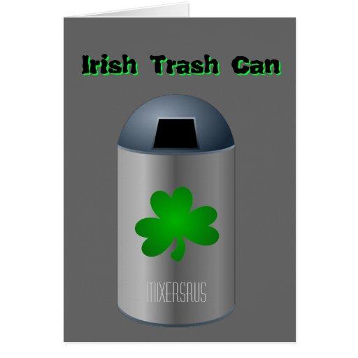 Irish Trash Can Drink Recipe Greeting Card