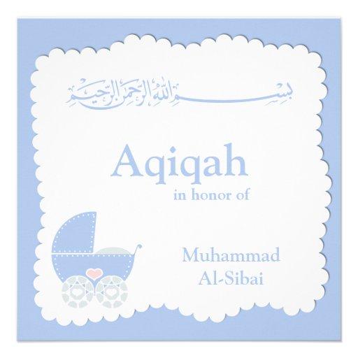 islamic aqiqa baby invitation bismillah muslim 525