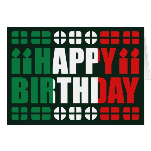 Italy Flag Birthday Card