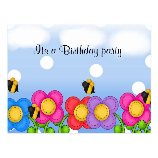 Its A Birthday Party Post Card