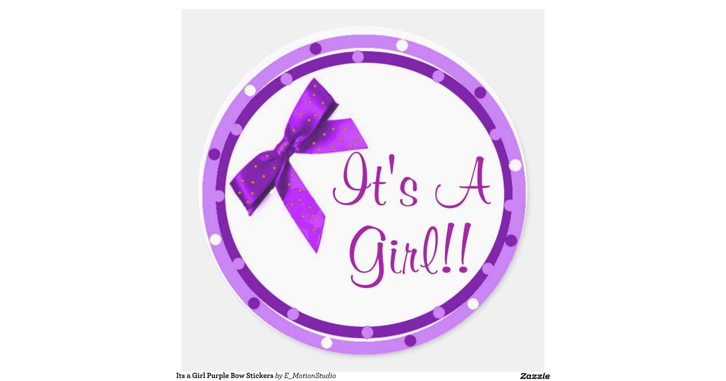 Its A Girl Purple