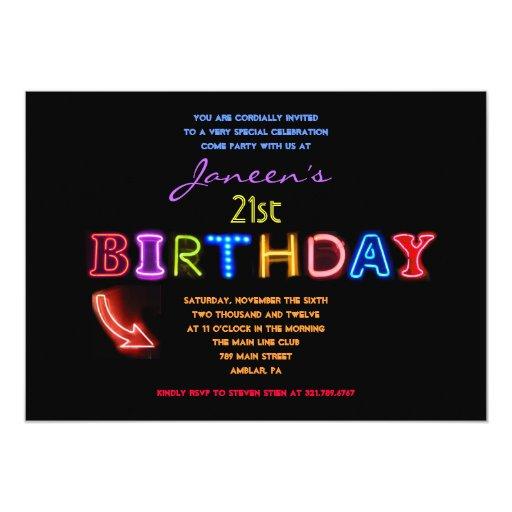 IT'S ELECTRIC! 21st Birthday Invitation Invite