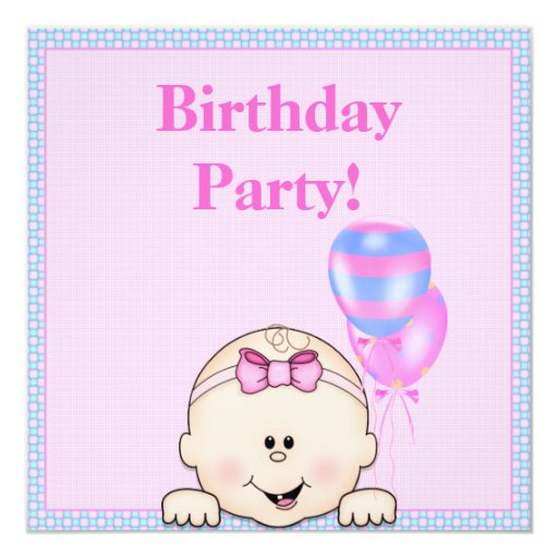 IT'S MY BIRTHDAY PARTY INVITATION PINK