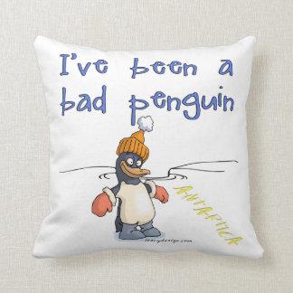 Funny Penguin Design Pillows Funny Penguin Design Throw