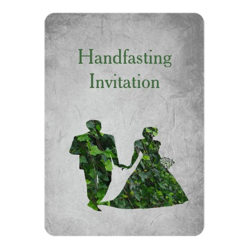 Handfasting Invitation: Ivy Green Man & Green Lady Handfasting Invitation
