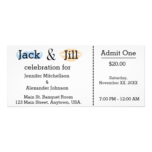 jack and jill ticket templates - jack and jill moustache lipstick shower ticket rack card