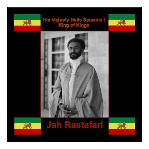 Jah Rastafari Quotes: Jah Rastafari, Haile Selassie I Canvas Print 3 Ft