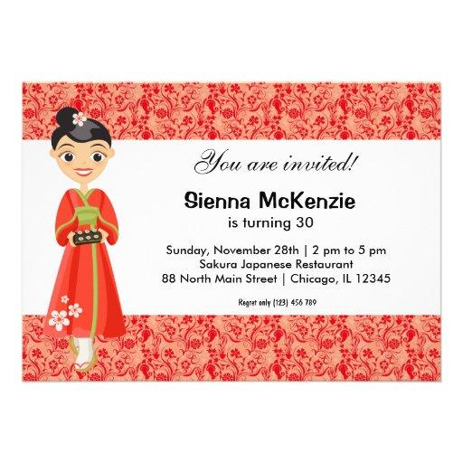 japanese birthday theme invitation  zazzle