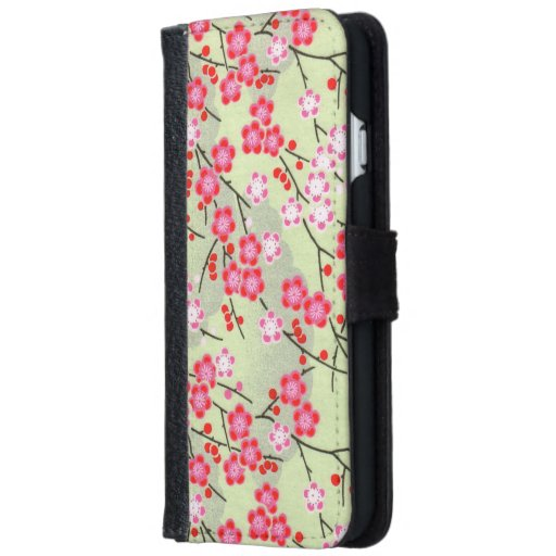 Japanese patterns wallet phone case for iPhone 6/6s | Zazzle