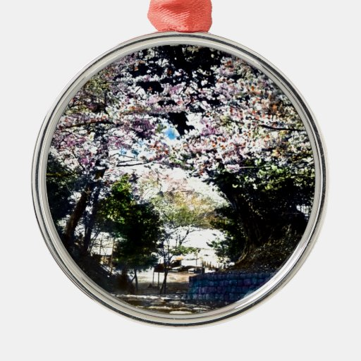 Japanese Vintage Cherry Blossoms Christmas Ornaments