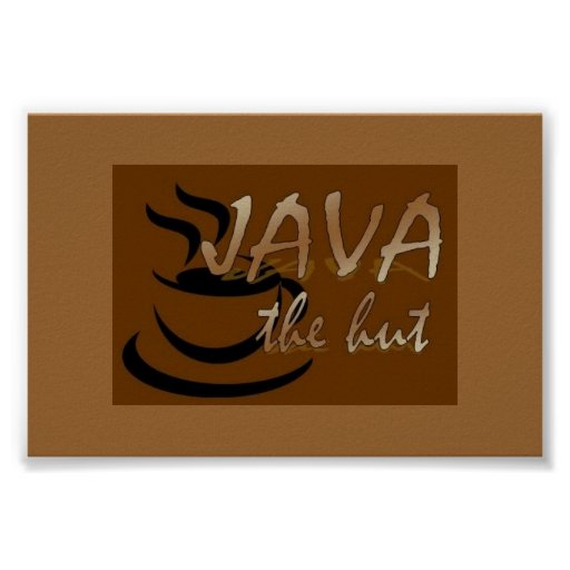 Inspiration Hut Grid Paper: Java The Hut Poster