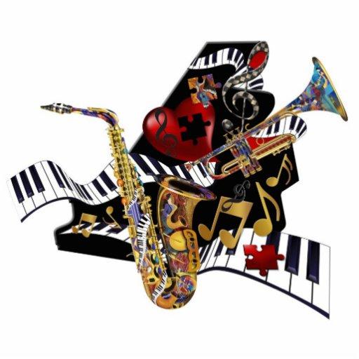 Jazz Piano Saxophone Trumpet Art Sculpture Zazzle