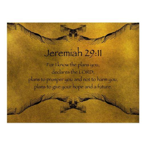 Jeremiah 29 11 postcard zazzle - Jer 29 11 kjv ...