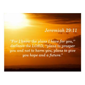 Jeremiah 29 11 sunset scripture memory card postcard - Jer 29 11 kjv ...
