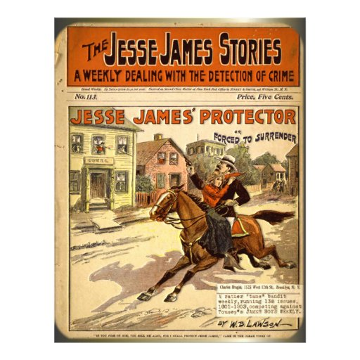 Free Comic Book Day Flyer: Jesse James Outlaw Bank Robber Comic Book Flyer
