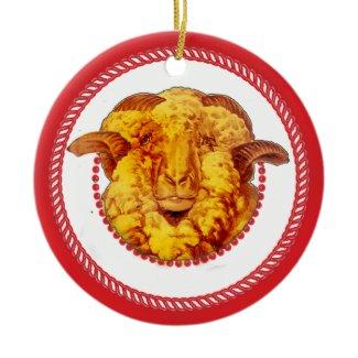 Jesse Tree Ram Ornament #2 ornament