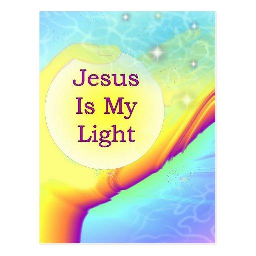 Jesus Is My Light Postcards | Zazzle