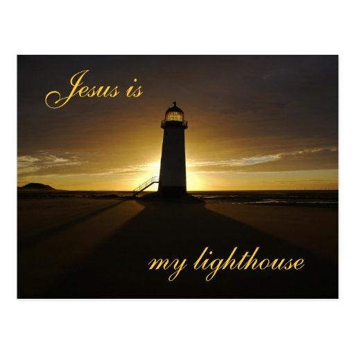 Jesus is My Lighthouse Postcard | Zazzle