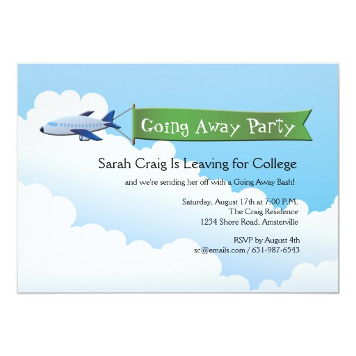 farewell banner template - jetliner banner going away party invitation zazzle