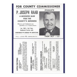 Joe Raab's Orchard Recipes & Political Ad