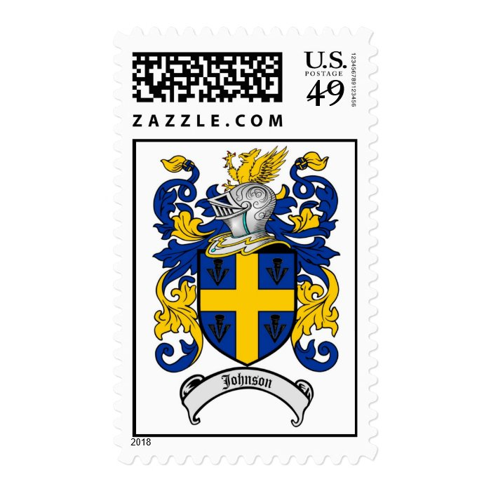 Johnson Family Crest Coat of Arms Stamp on PopScreen