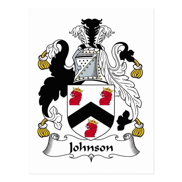 Johnson Family Crest Post Cards on PopScreen