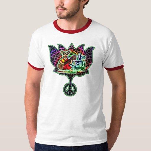 Jolly Llama Lotus Ringer T-Shirt